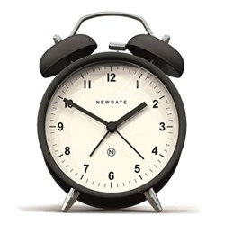 Charlie Bell Alarm clock, H14 x W9 x D5.5cm, matt black