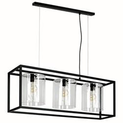Richmond Triple chandelier, H33cm x W23cm x L93cm Flex 150cm, black