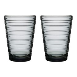 Aino Aalto Pair of tall tumblers, 33cl, grey