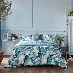 Palm House King size duvet cover, eucalyptus