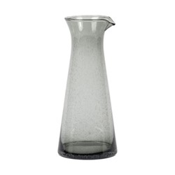 Ella Glass jug, H25 x W11cm, charcoal