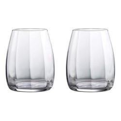 Elegance Optic Pair of tumblers, H11 x W8.9 x D8.9cm, clear