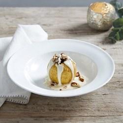 Symons Bowl with rim, 23cm, white bone china