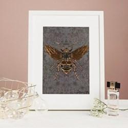 Bee Mounted print, 32.5 x 43cm, white frame