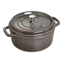 Round cocotte, 10cm, graphite grey