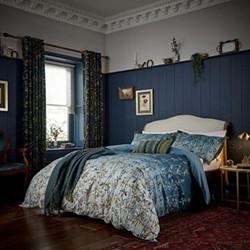 Goosegrass Super king duvet cover set, blue