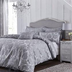 Damask Jacquard Double duvet set, 200 x 200cm, silver