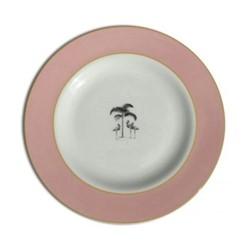 Harlequin - Pink Flamingo Dessert plate, D21cm, pink