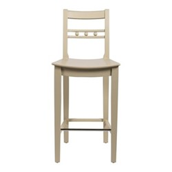 Suffolk Bar stool with back rest, H103 x W44 x D49cm, shell