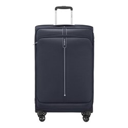 Popsoda Spinner expandable suitcase, 78 x 48 x 31/34cm, dark blue
