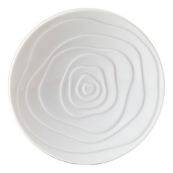 Onde White Set of 6 bread plates, 15.5cm