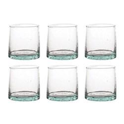 Morrocan Set of 6 small glasses, D6.3 x H6.3cm, green