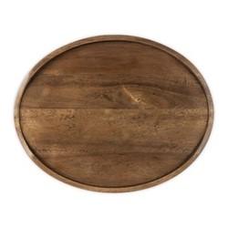 Signature Oval serving board, L35 x W28 x H2.5cm, dark wood