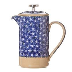 Lawn Large cafetiere, H21.6 x W11.4cm - 1 litre, dark blue