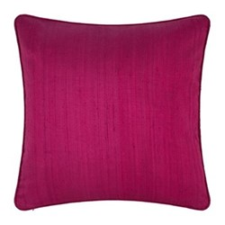 Silk cushion, 45 x 45cm, magenta