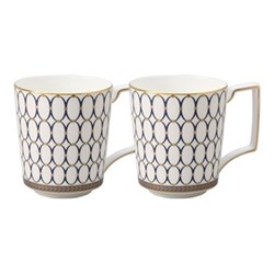 Renaissance Gold Pair of mugs, 300ml, white