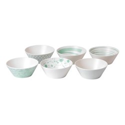 Pacific - Assorted Set of 6 cereal bowls, 15cm, mint
