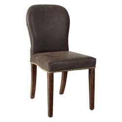 Stafford Chair, L45 x W59 x H92cm, aged truffle leather