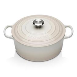 Signature Cast Iron Round casserole, 26cm - 5.3 litre, meringue