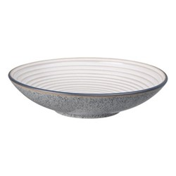 Studio Grey Large ridged bowl, 31 x 7cm, grey/white