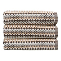 Carnaby Stripe Pair of hand towels, 50 x 100cm, neutral