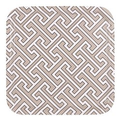 Maze Square tray, 32 x 32cm, truffle