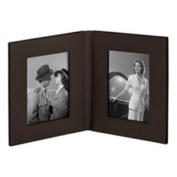 """Book Double photograph frame, 6 x 4"""", moka"""