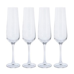 Cheers! Set of 4 flute glasses, 200ml