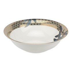 Blue Lily Serving bowl, Dia23cm, 22 carat gold / blue