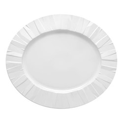Matrix Oval platter, 42 x 36cm, white