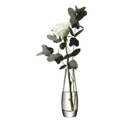 Flower Vase single stem, 17cm, clear