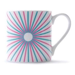 Burst Mug, H9 x D8.5cm, pink/turquoise
