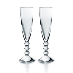 Vega Pair of Champagne flutes, clear