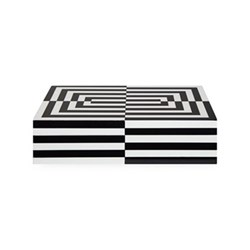 Op Art Box, large, Black/White