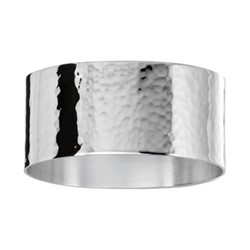 Waves Napkin ring, 5cm, silver plate