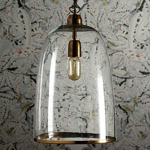 Percy Large pendant light, D28 x H40cm, brass chain