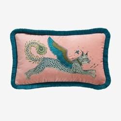 Lynx Boudoir cushion, pink