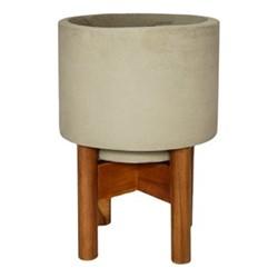 Vigo Planter with stand, H30.5 x W22 x D22cm, concrete