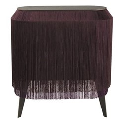 Baby Alpaga Side table, H72 x L66 x Dep27cm, deep purple