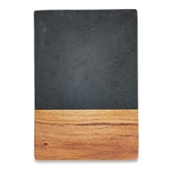 Fala Small chopping board, L23 x W16cm, slate & acacia