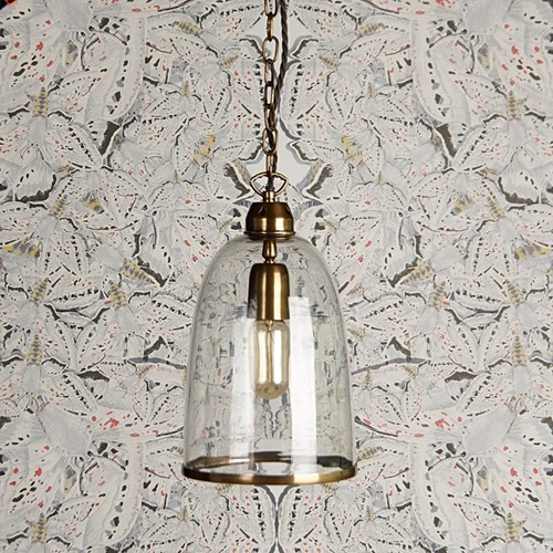 Percy Small pendant light, D17 x H26cm, brass chain