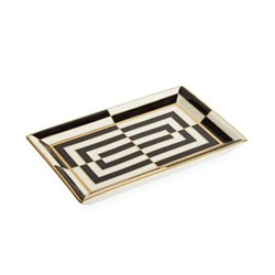 Op Art Rectangle tray, Black/White