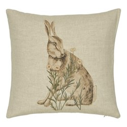 Little Chintz Square cushion, 40cm, linen