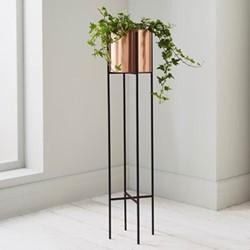 Large plant holder, L15 x W15 x D91cm, black