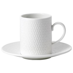 Gio Espresso cup and saucer, 7cl, white bone china