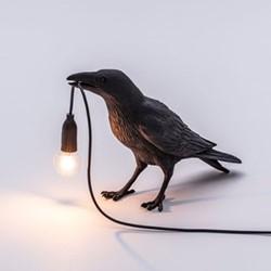 Waiting Bird lamp, 29.5 x 18.5 x 12cm, black