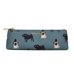 Pug Friends Pencil case, H8 x W22 x D5cm, Multi