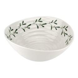 Mistletoe Bowl, Dia19cm, white/ green