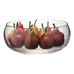 Serve Low bowl, 27.5cm, clear