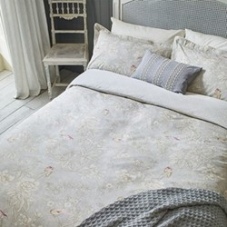 Chiswick Grove King size duvet cover, L220 x W230cm, silver
